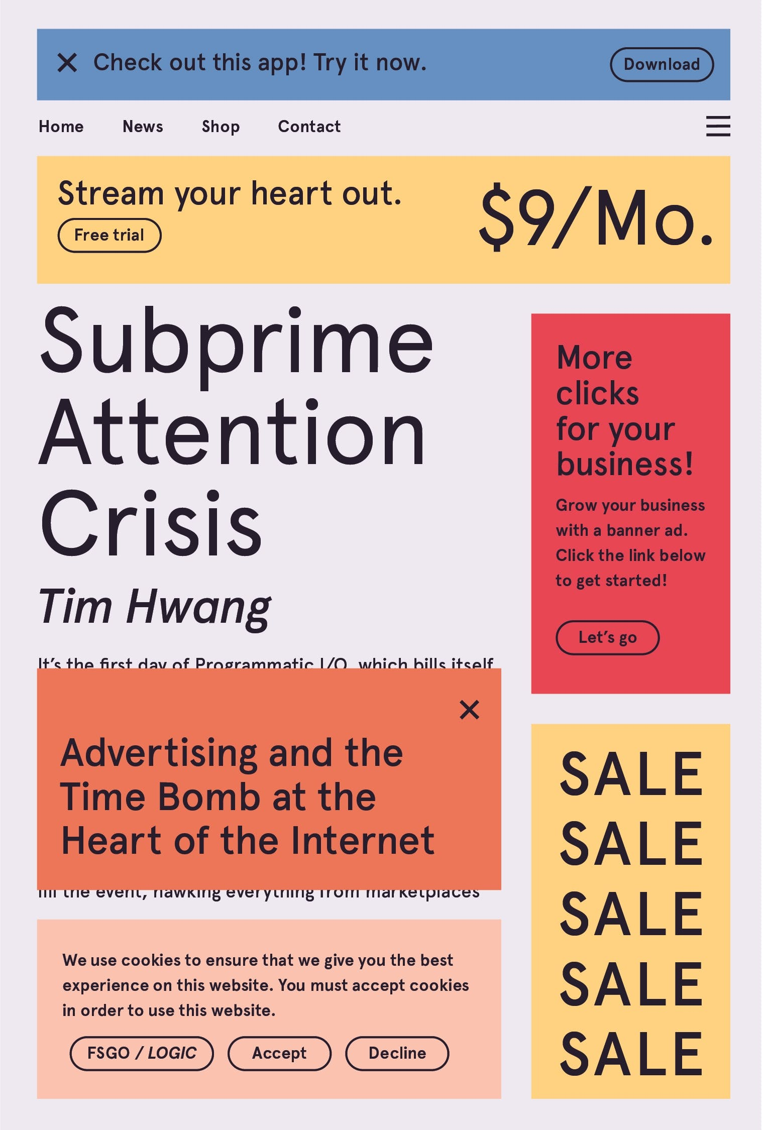 Image of Subprime Attention Crisis