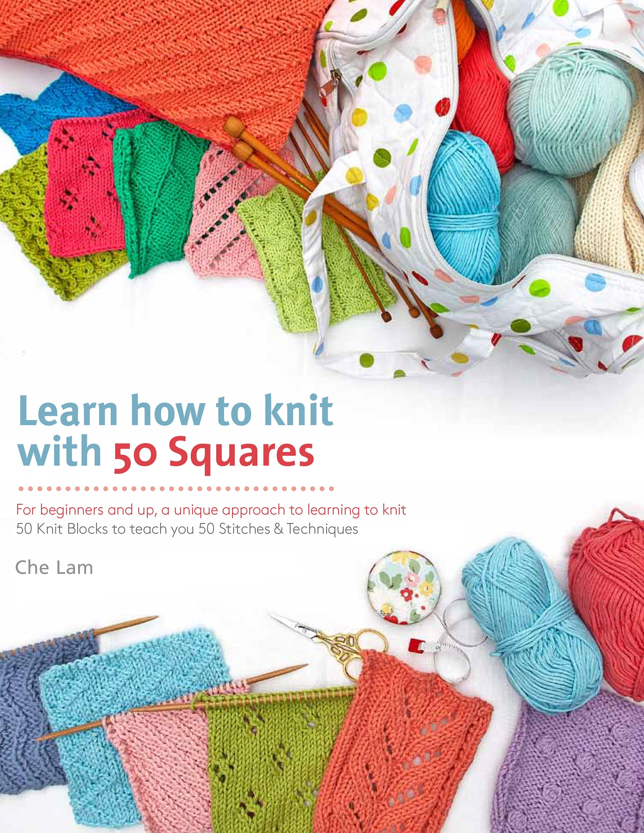Image of Learn How to Knit with 50 Squares