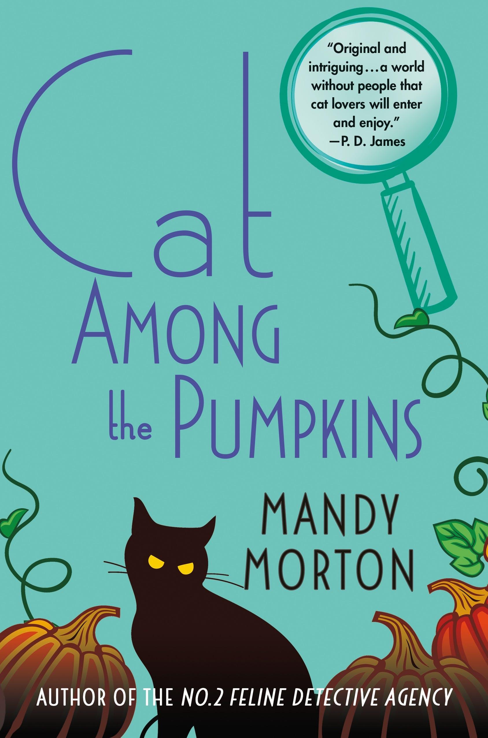 Image of Cat Among the Pumpkins