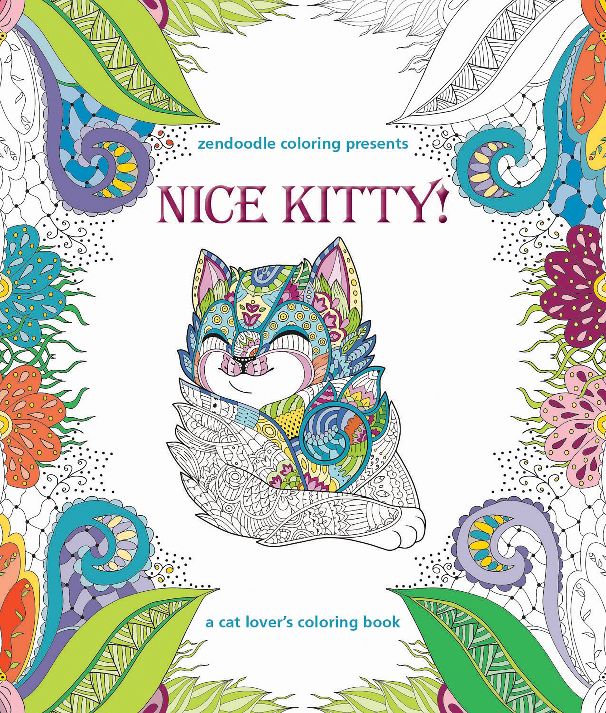Image of Zendoodle Coloring Presents Nice Kitty!