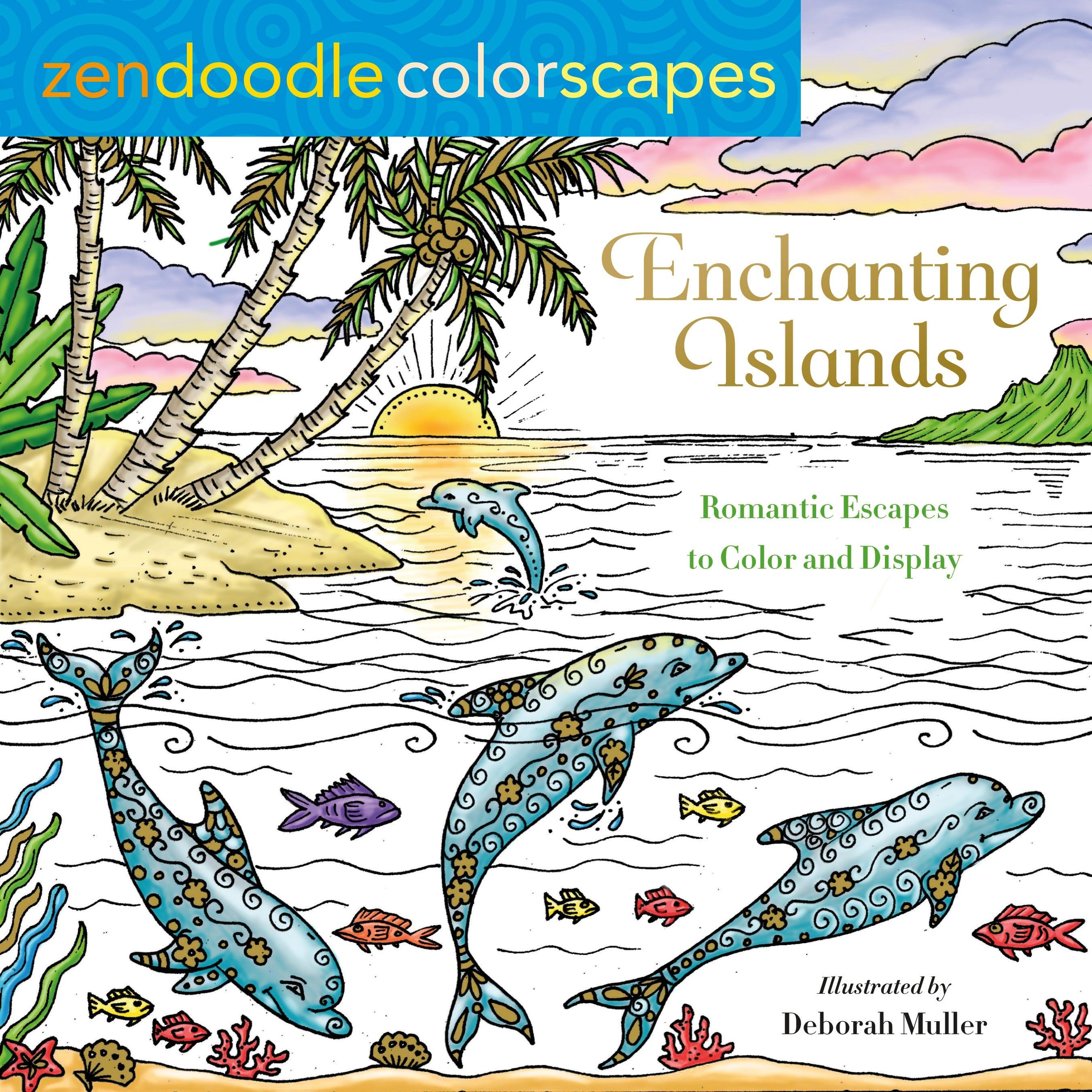 Image of Zendoodle Colorscapes: Enchanting Islands