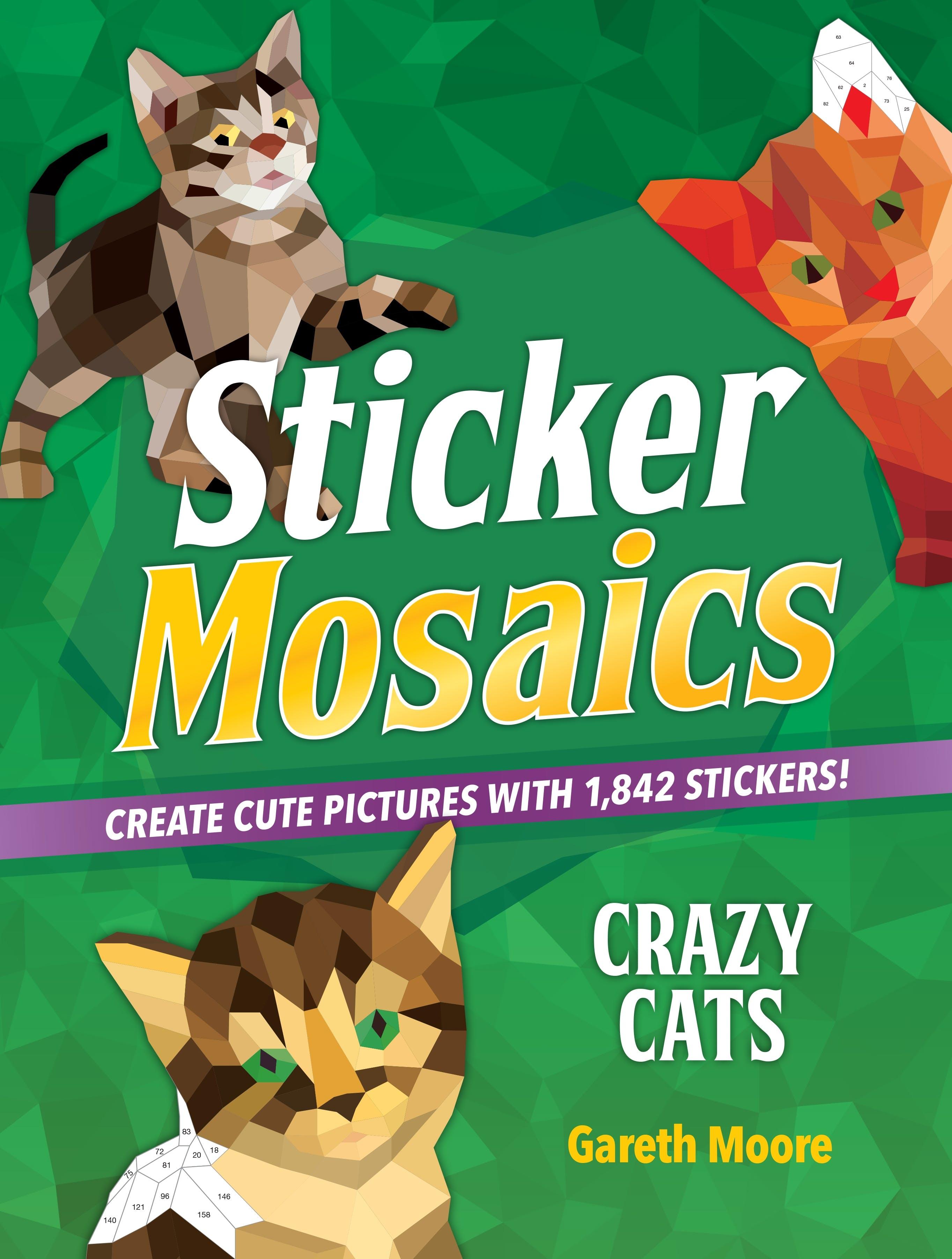 Image of Sticker Mosaics: Crazy Cats
