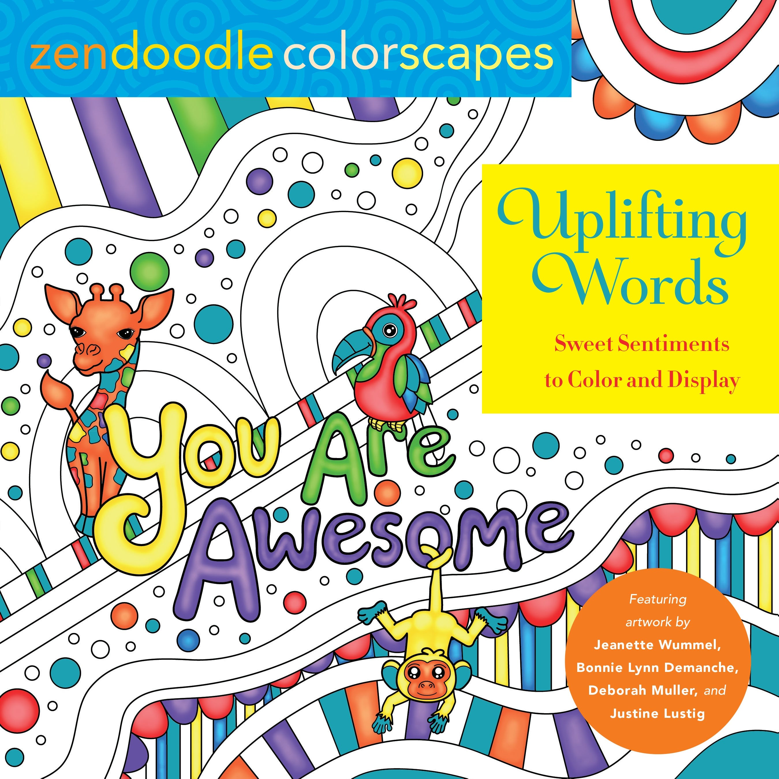 Image of Zendoodle Colorscapes: Uplifting Words