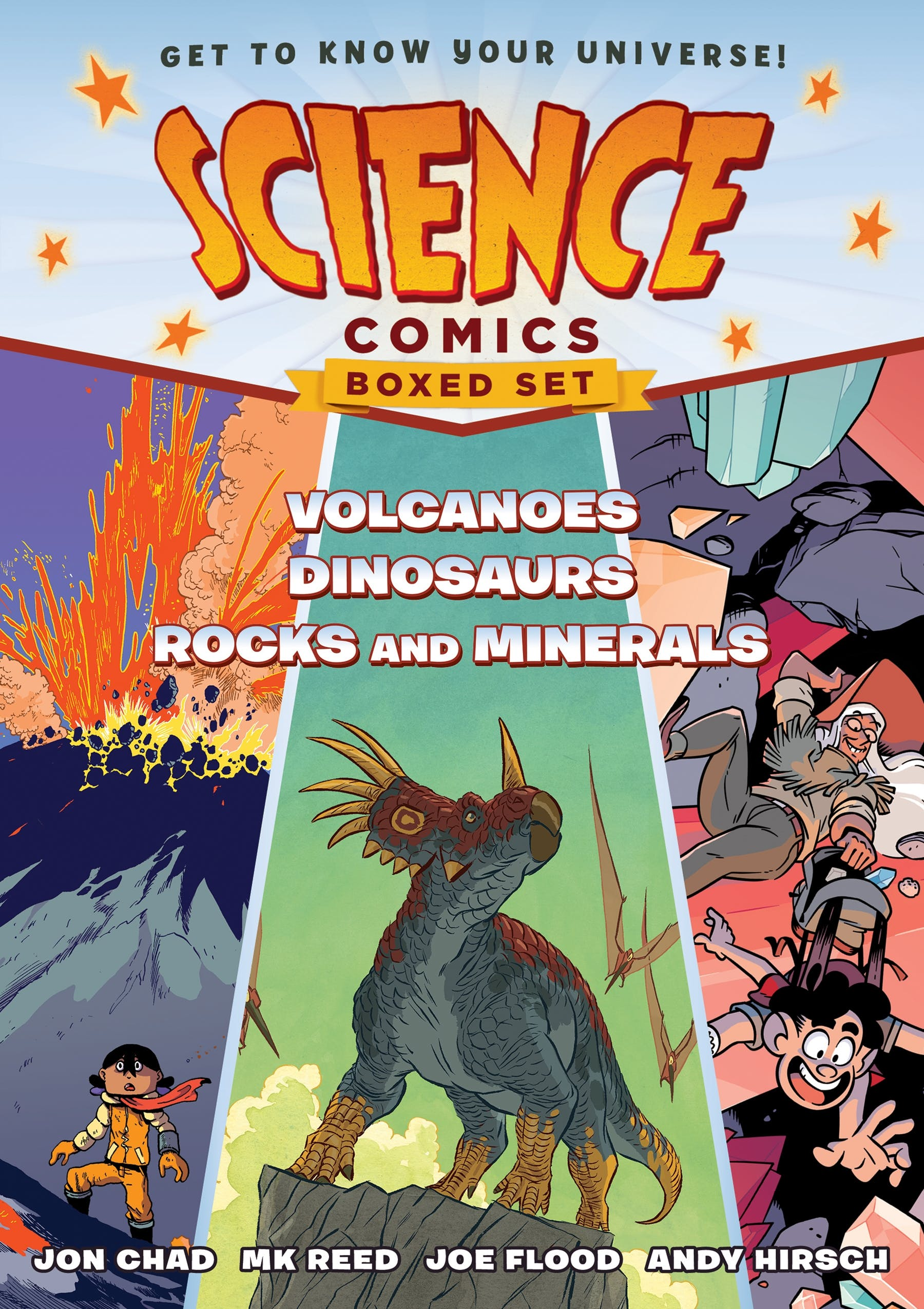 Image of Science Comics Boxed Set: Volcanoes, Dinosaurs, and Rocks and Minerals