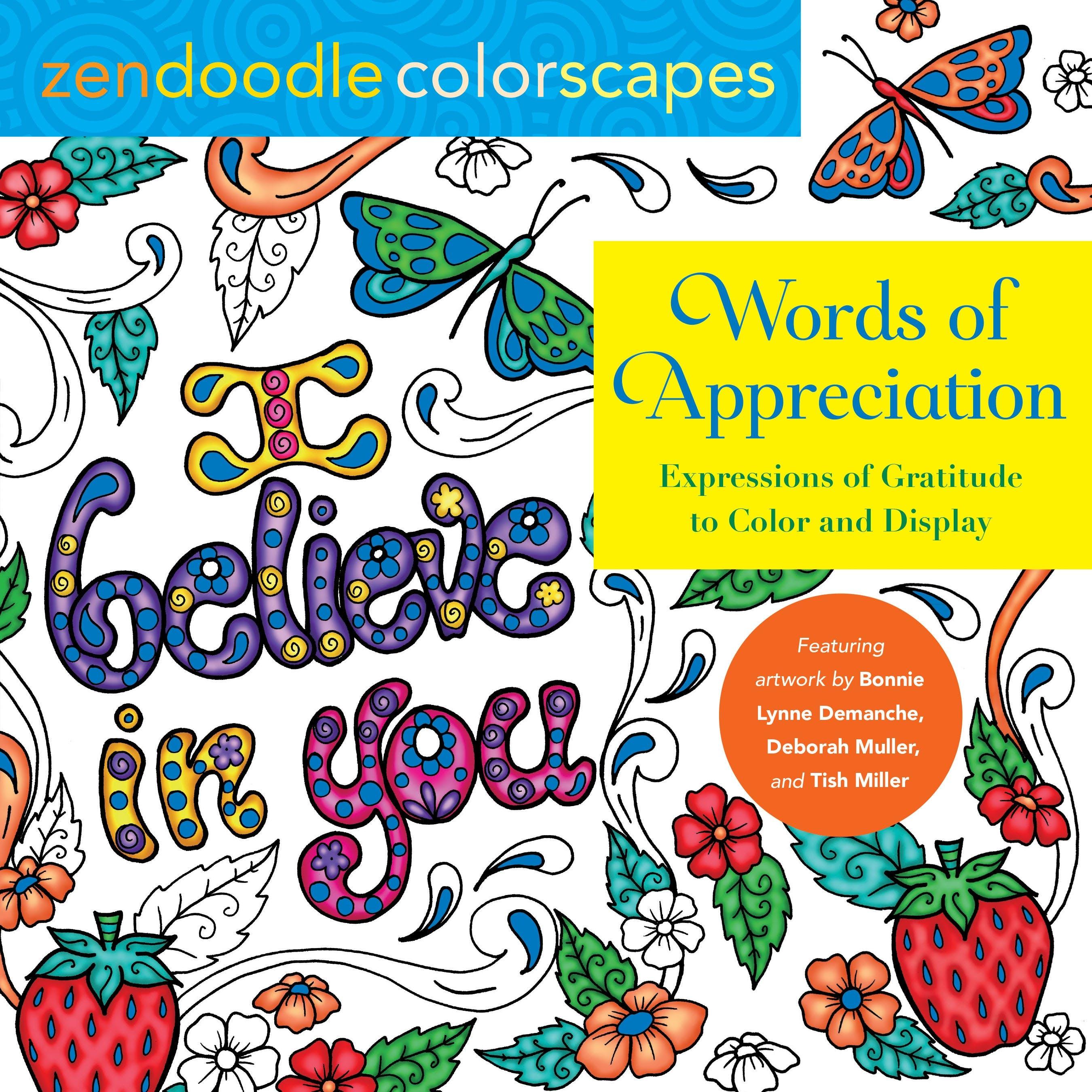 Image of Zendoodle Colorscapes: Words of Appreciation