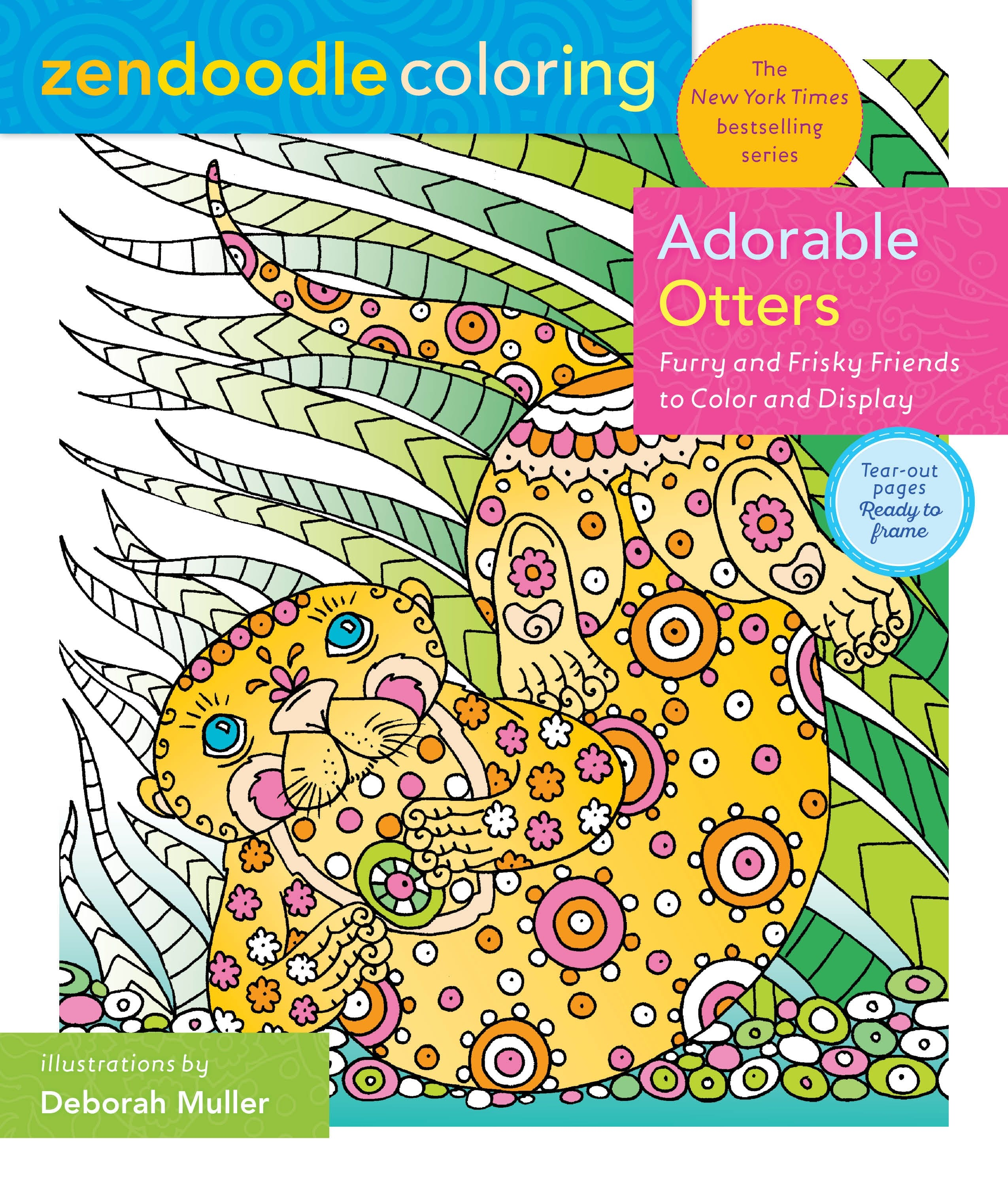 Image of Zendoodle Coloring: Adorable Otters