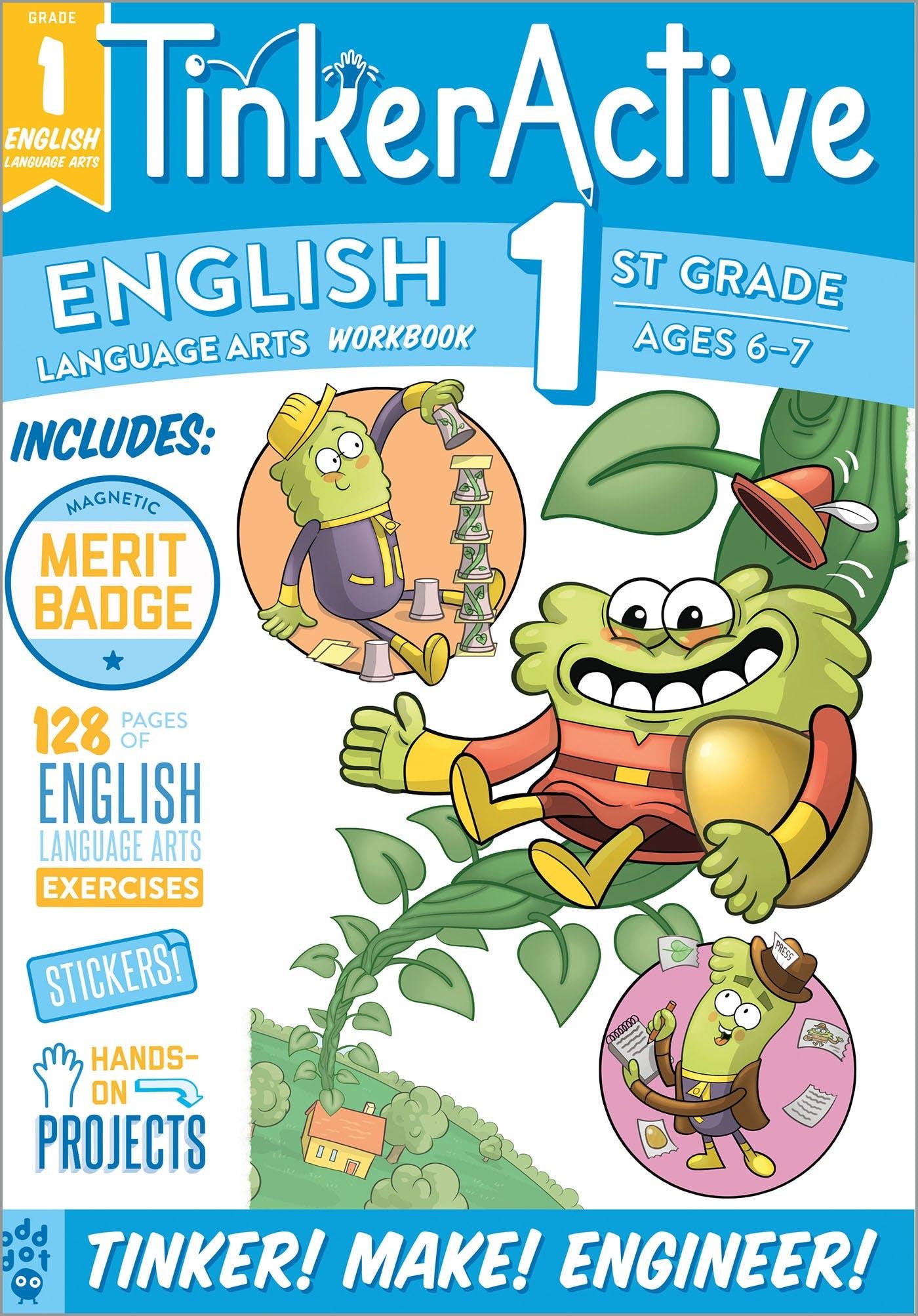 Image of TinkerActive Workbooks: 1st Grade English Language Arts