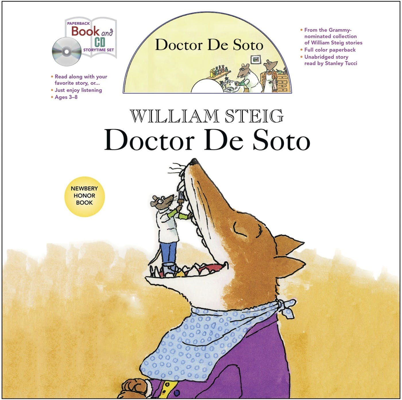 Image of Doctor De Soto book and CD storytime set