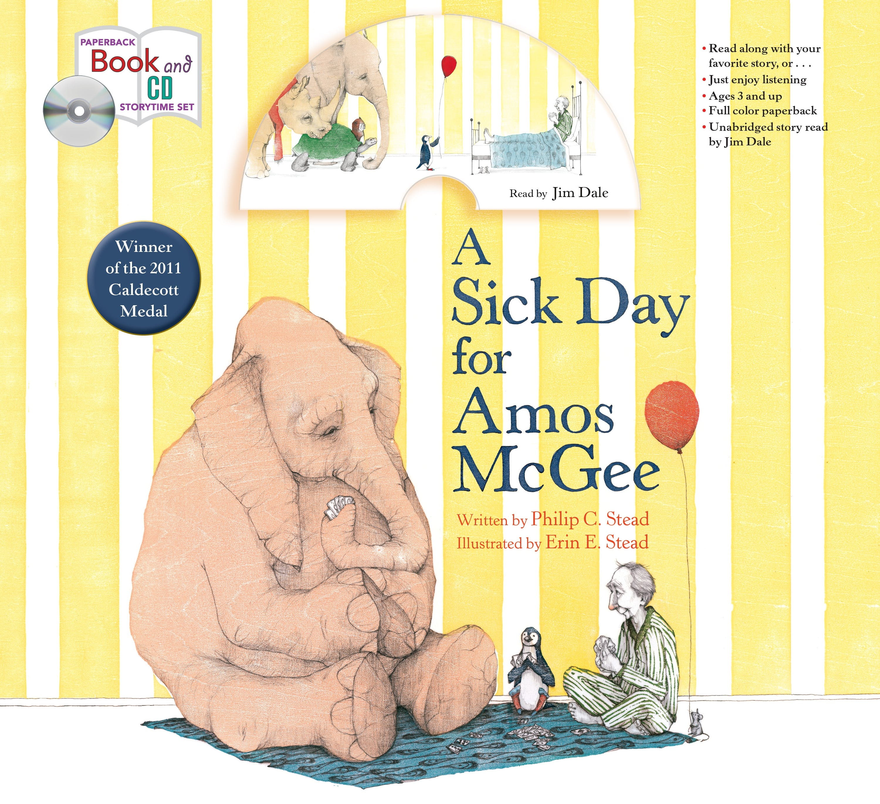 Image of A Sick Day for Amos McGee: Book & CD Storytime Set